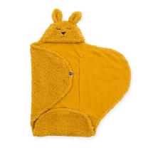 Mustard odeja za lupinico ZAJČEK 100x105 cm, Jollein