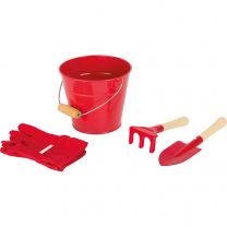 Rdeče vrtnarsko vedro za otroke (3 leta+), Small Foot