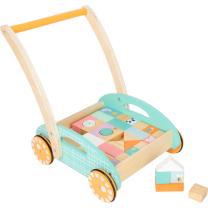 PASTELNI voziček za hojo - hojica s kockami (12m+), Small Foot