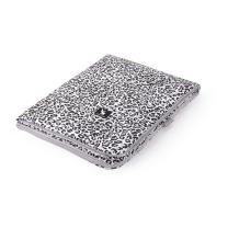 SVETLO SIVA velvet odeja ali igralna podloga BELA siv leopard vzorec, Cottonmoose