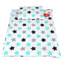 bela-2-delna-posteljnina-crne-turkizne-in-sive-zvezde
