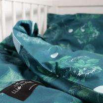 Zelena posteljnina CVETLICE Lulalove