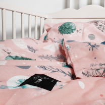 Roza posteljnina CVETLICE, Lullalove