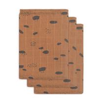 Karamel rjave krpice za umivanje PIKE (3 kosi) Jollein®