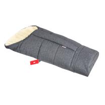 Jeans melange siva zimska vreča 90 -110 cm - 100% ovčja volna