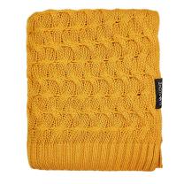 Mango rumena bambusova pletena odeja KITKA 80x100 cm, Lullalove