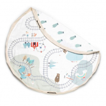 Umazano BELA vreča in podloga Play & Go železnica/medvedi