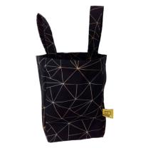 črna torbica z rumenimi črtami za rolko dostawka