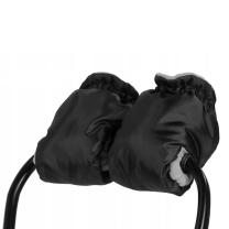 ČRNE muf rokavice za voziček - SIV flis BabyMax