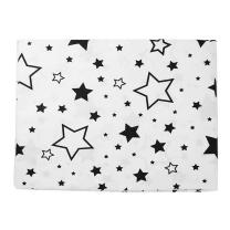 Bela 2-delna posteljnina ČRNE velike in majne zvezdice 150x120 cm Largo