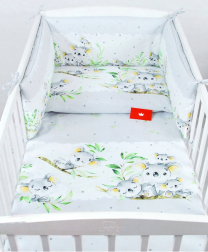 Siva 2-delna posteljnina KOALA 135x100 cm BabyLux