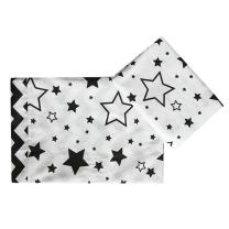 Bela posteljnina s črnimi zvezdicami