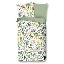 Bela - khaki zelena otroška posteljnina JUNGLE 140x200 cm