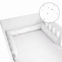 BELA obroba za posteljico ZVEZDICE 180x10 cm, Herding