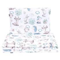 BELA 2-delna posteljnina GOZDNI PRIJATELJI 120X90 cm, MAMO-TATO