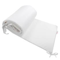Bela obroba za posteljico, kompaktna 210x30 cm