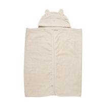 BEŽ brisača s kapuco iz organskega bombaža VEVERICA 120x70 cm, Pippi®