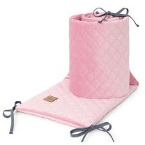 PUDRASTO ROZA obroba za posteljico, VELVET (180x30 cm), MAMO-TATO