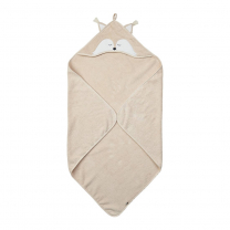 Otroška brisača s kapuco BEŽ LISIČKA