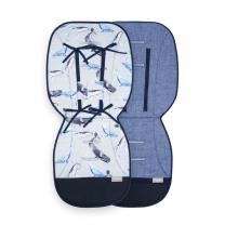 Melange modra dvostranska blazina za voziček SVETLO MODRA ocean, Beztroska