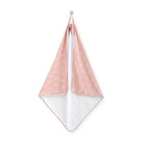 BELA-PUDRASTO ROZA brisača s kapuco MAVRICA 100x100 cm, Jollein®