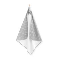 BELA-SIVA brisača s kapuco MAVRICA 100x100 cm, Jollein®