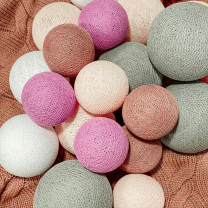 Bombažne lučke PREMIUM Candy Pink, komplet 20 lučk