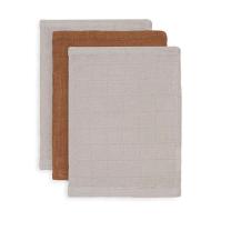 Karamel rjave krpice za umivanje iz bambusa 15x20cm (3 kosi) Jollein®