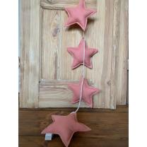CORAL PINK LANENE zvezdice na vrvici - girlanda, BABO