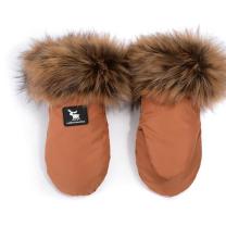 Karamel rjave rokavice za voziček (univerzalne), Cottonmoose