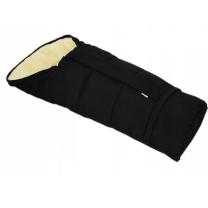 Črna zimska vreča 90 -110 cm - 100% ovčja volna
