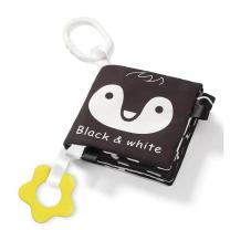 Črno-bela senzorična knjigica PINGVIN (0m+), BabyOno