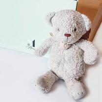 Darilni set spominska knjiga Neon Mint + medvedek Tikiri