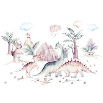 Stenske nalepke Watercolor DINOZAVRI, Don Dobinio