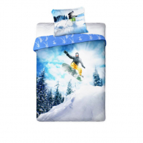 Dvostranska 2-delna posteljnina SNOWBOARD 140x200 cm