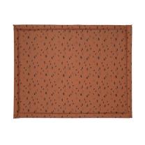 Karamel rjava igralna podloga s pikami (75x95 cm), Jollein