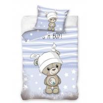 Modra 2-delna posteljnina MEDVEDK IT'S A BOY! 120x90 cm