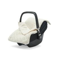 Kremno bela pletena vreča za voziček, lupinico ali otroški avtosedež  SPRING KNIT IVORY, Jollein®