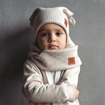 Bež kapa z ušeski M (3-6 let), Zezuzulla