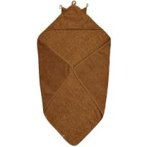 Karamel rjava brisača s kapuco iz organskega bombaža UŠESKA, Pippi®