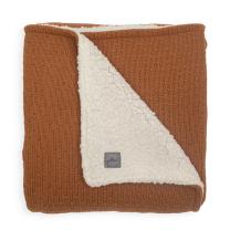 Karamel rjava dvostranska pletena odeja BLISS 100x150 cm, Jollein
