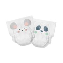 EKO plenice KIT&KIN miška in panda (40 kosov) – velikost 2 (4-8 kg)