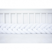 Pletenica za dječji krevetić RIBLJA KOST (200 cm), BIJELA
