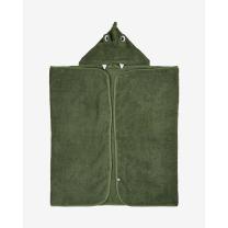 ZELENA brisača s kapuco iz organskega bombaža 120x70 cm DINOZAVER, Pippi®