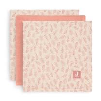 Koralno roza tetra plenice Meadow ROSEWOOD (70X70 cm) – 3 kosi, Jollein®