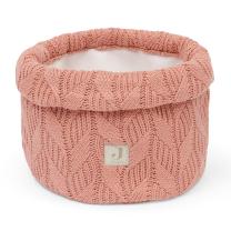 Koralno roza pleten koš za shranjevanje SPRING KNIT ROSEWOOD, Jollein®