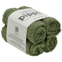 Zelene krpice za umivanje iz organskega bombaža (4 KOSI) Pippi®