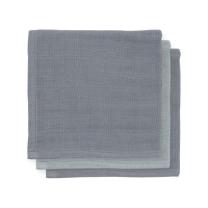Sive - temno sive krpice za umivanje iz bambusa (3 kosi) Jollein®
