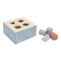 MODRA kocka za razvrščanje oblik OCEAN (12m+); Little Dutch