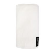 Kokos bela tanka bambusova pletena odeja LULLALOVE 90x90 cm